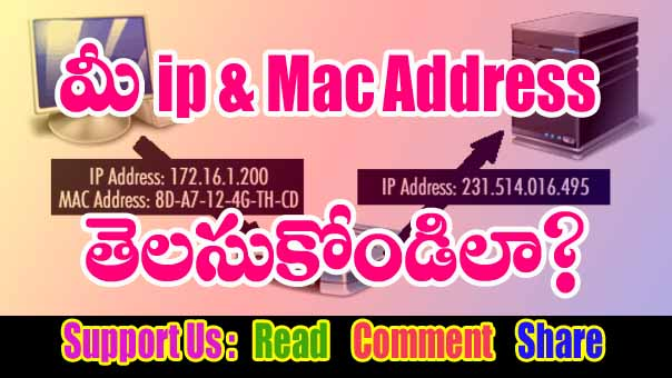 find ip and mac Address