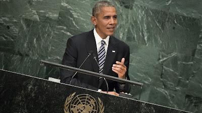 El presidente estadounidense, Barack Obama, ofrece un discurso ante la Asamblea General de las Naciones Unidas (AGNU), 20 de septiembre de 2016.