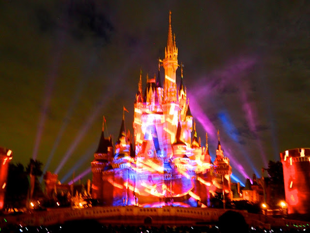 Once Upon A Time night show on the Cinderella Castle, Tokyo Disneyland, Japan