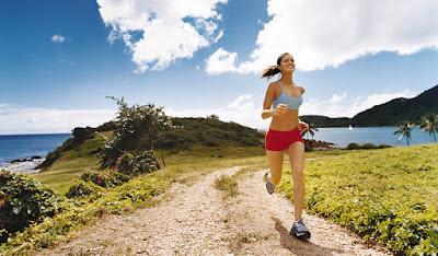 En forma haciendo running