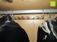 Bügel quer: IPOW- 8 Set platzsparende Kleiderbügelhalter Schrankbügel Kleiderbügel kleiderstange Mehrfachkleiderbügelhalter