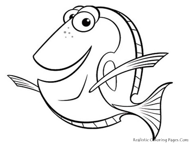 Fish Realistic Coloring Pages Realistic Coloring Pages  This Is Fish Sea  Animals