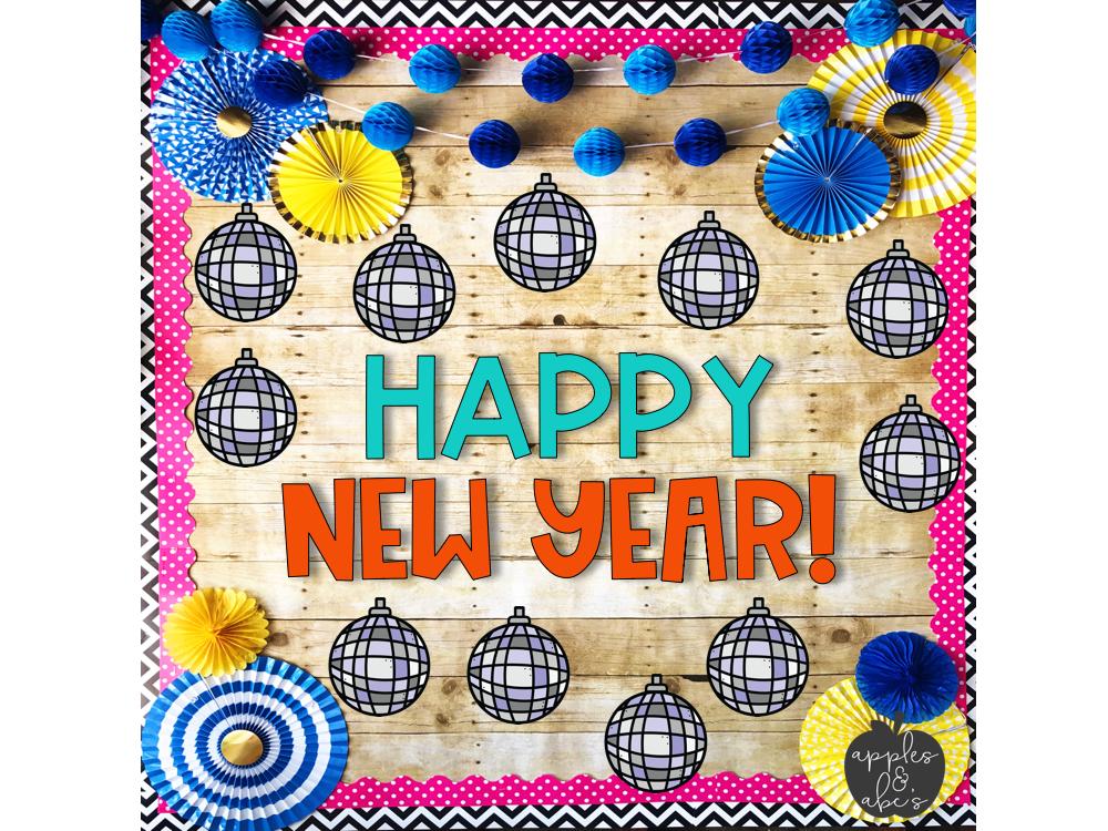 Happy New Year Bulletin Board Ideas 31