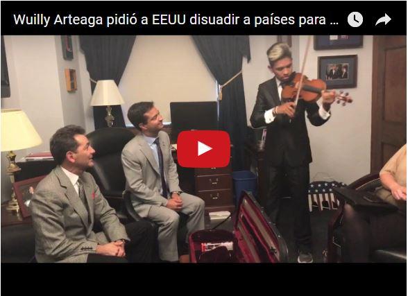 Violinista Wuilly Arteaga denunció a Maduro ante la ONU