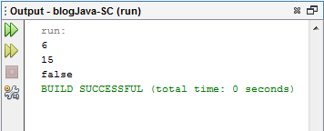 Output Operator Logika Pada Java