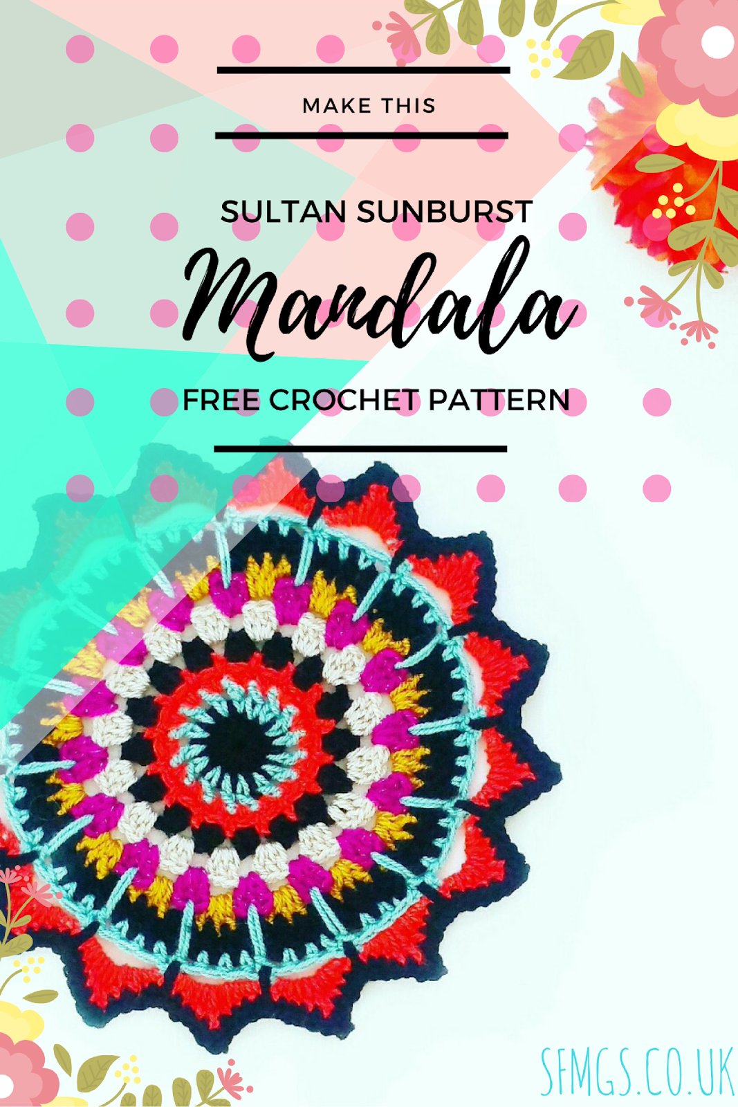 free mandala crochet pattern boho hippie
