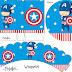 Capitán América Bebé: Mini Kit para Imprimir Gratis.
