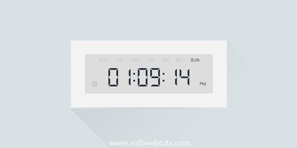 Digital Clock with HTML5 Audio Alarms