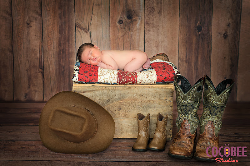 Salt Lake City Newborn Photographer Cowboy Session