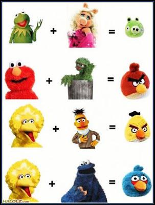 angrypigs Vila Sésamo + Muppet Babies = Angry Birds?