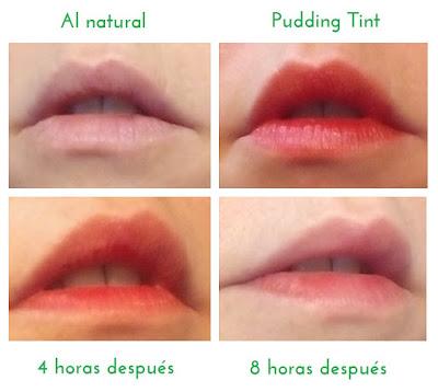opinión Aritaum Style Pop Pudding Tint swing coral antes y después