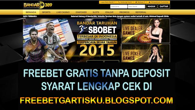 Freebet Gratis Bandar389 Senilai 10.000