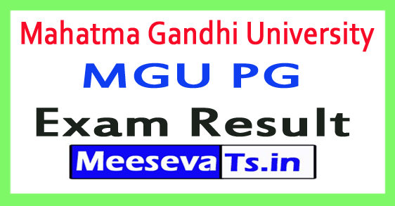 Mahatma Gandhi University MGU PG Exam Results 2017