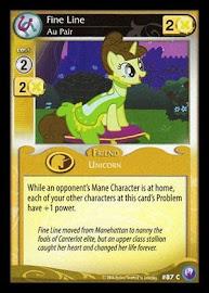 My Little Pony Fine Line, Au Pair Canterlot Nights CCG Card