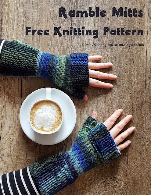 Ramble Mitts - free knitting pattern by Knitting and so on