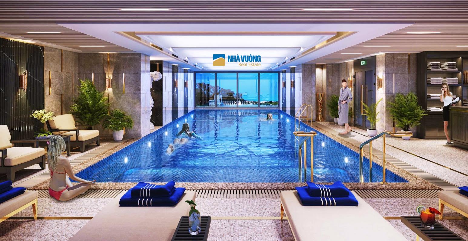 Bể bơi bốn mùa tại chung cư Núi Trúc