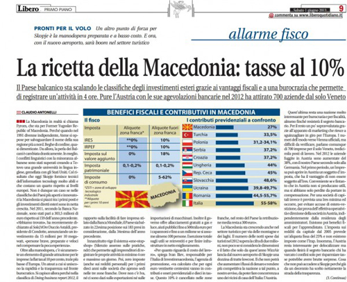 Italian newspaper: Macedonia's success story
