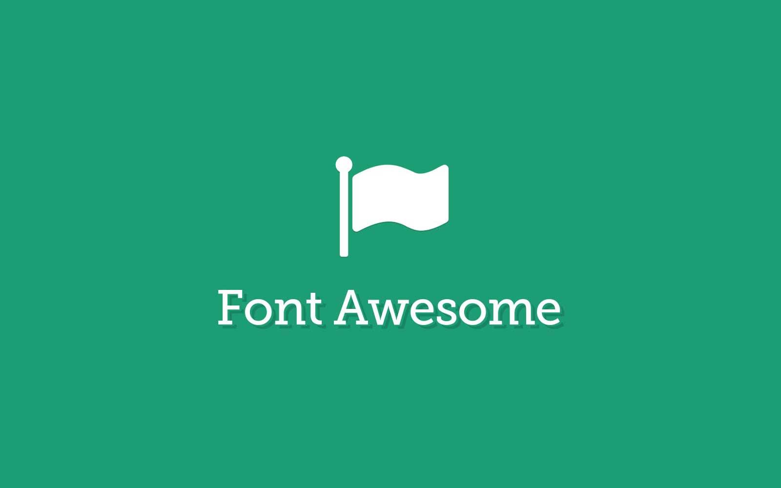 font awesome social icons