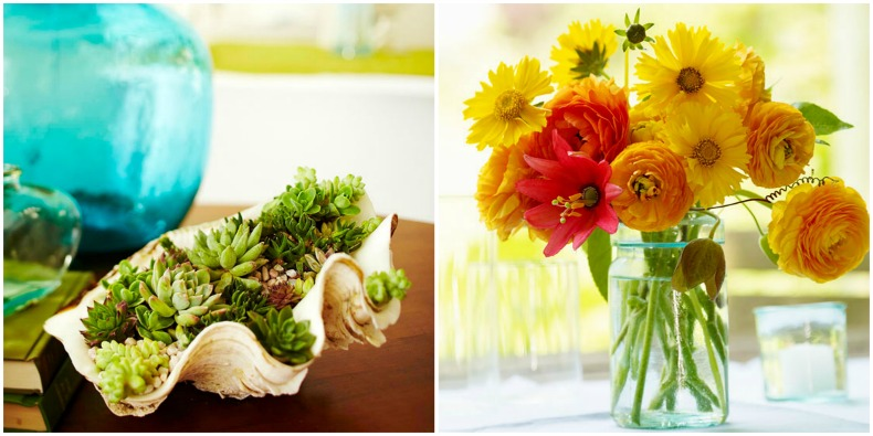 Coastal floral arrangements