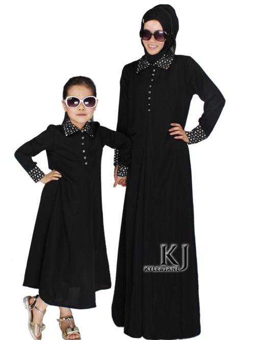 baju abaya modern couple ibu anak