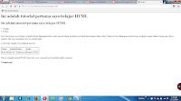 Belajar HTML tingkat dasar