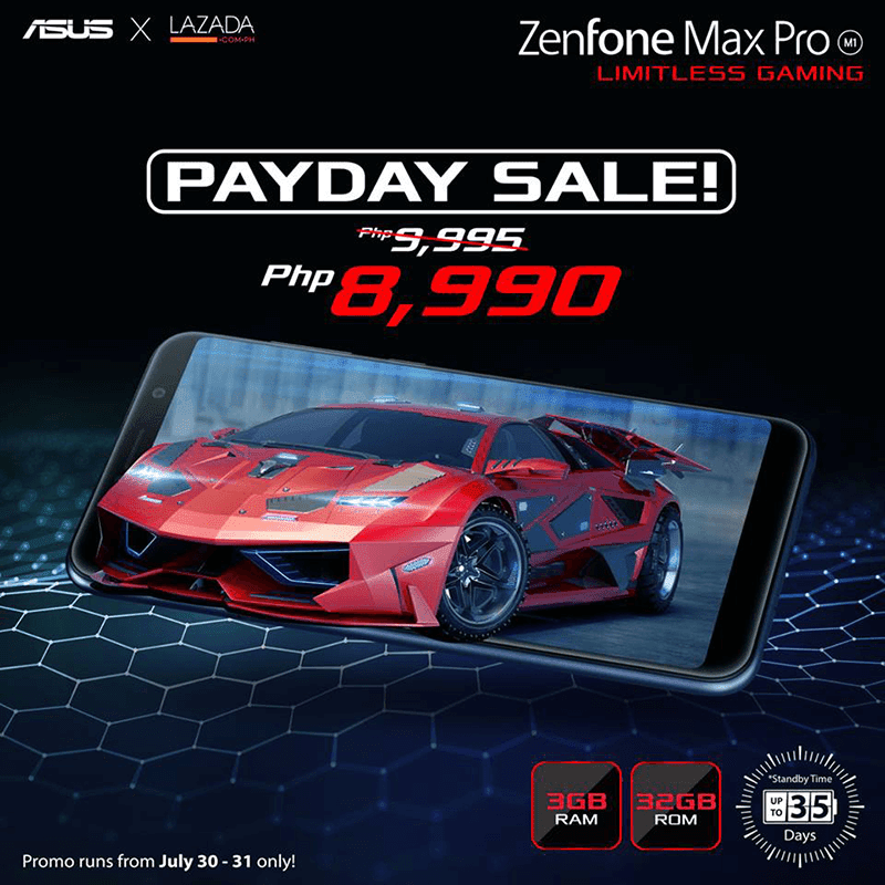 Sale Alert: ASUS cuts price for ZenFone Max Pro M1 (3GB), now only PHP 8,990 until tomorrow!