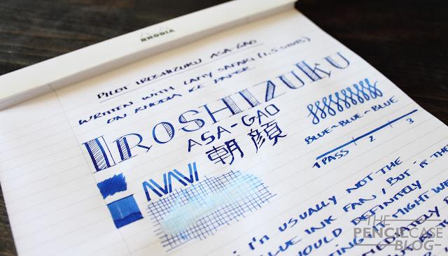 Inktastic Pilot Iroshizuku Asa-Gao ink review