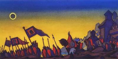 Н. Рерих «Поход князя Игоря» Затмение 1 мая 1185