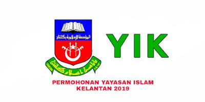 Permohonan Yayasan Islam Kelantan 2019 YIK Online
