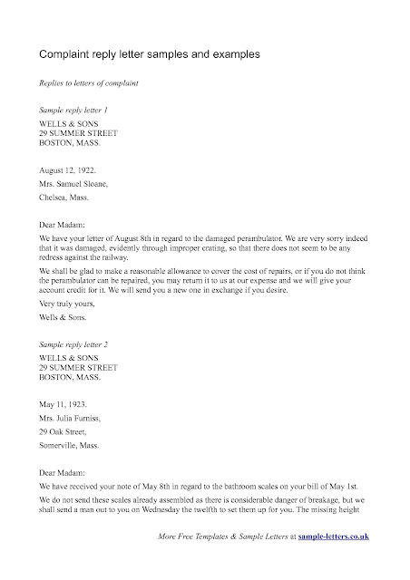 Inquiries And Replies Business Letter Image collections Letter