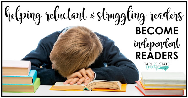 Check out a few of my favorite strategies and tips for supporting reluctant readers and struggling readers---as soon as possible. I believe we need to know who our struggling readers are before hte beginning of the year even starts and that we need to have a plan of attack! (I've included lots of tips for how to be prepared ahead of time for your upper elementary reluctant and struggling readers.)