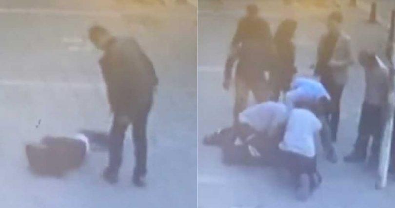 Τούρκος σήκωσε χέρι και χτύπησε γυναίκα – Δείτε τι του έκαναν μετά – Βίντεο