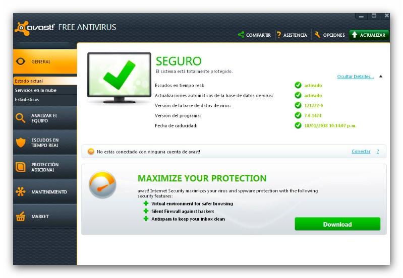 ... Descargar archivo de licencia para avast free antivirus 2013