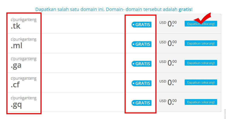 cara mendapatkan domain tld gratis