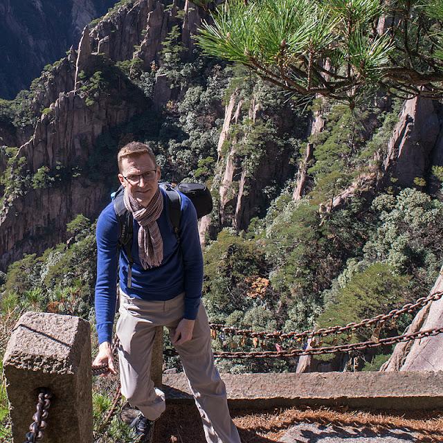 Moi au Grand Canyon de Xihai (Huangshan)