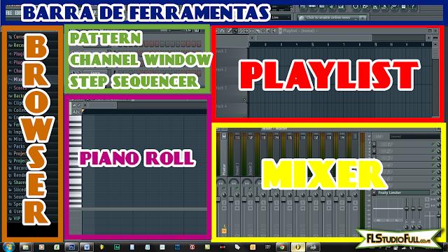 Primeiros passos no FL Studio 11 - Saiba o nome de cada janela