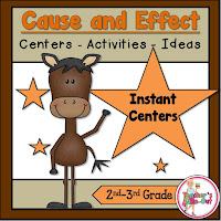 Cause and Effect Task Cards for Reading Centers