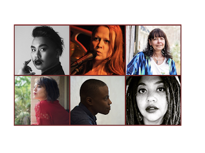 Photo collage of the six poets. Their images are available with alt text at the links for their poems in this post.