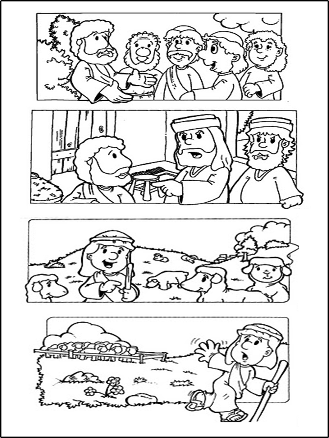 Lujoso Estudio De La Biblia Para Colorear Motivo - Dibujos Para ...