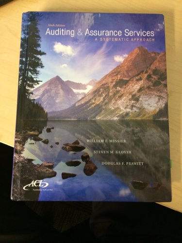 Auditing and Assurance Services  A Systematic Approach by McGraw Hill
