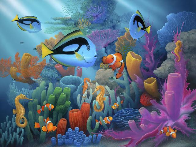 Maisematapetti Akvaario kala