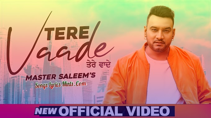 Tere Vaade Lyrics In Hindi & English – Master Saleem Latest Punjabi Song Lyrics 2020