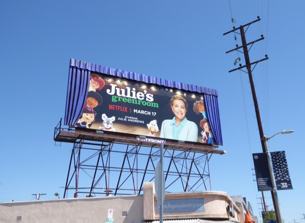 Special Julies Greenroom 3D curtains billboard
