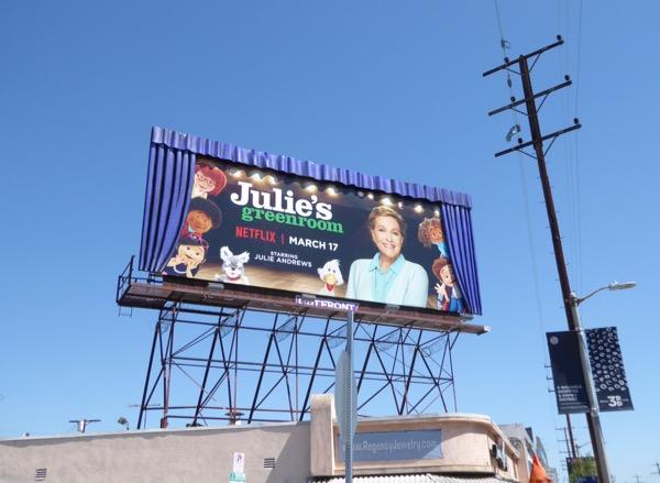 Special Julies Greenroom 3D curtains billboard