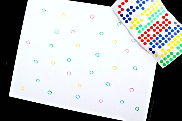 sticker matching activity