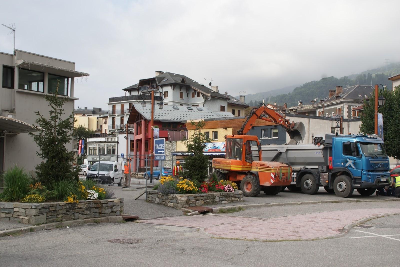 Les derni res infos de haute tarentaise par pierre villeneuve des travaux en centre ville a - Office de tourisme de bourg saint maurice ...
