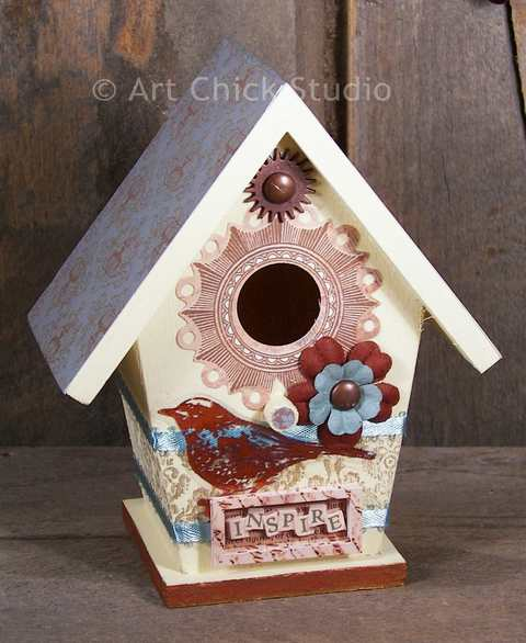 Bird Shabby Chic Birdhouse
