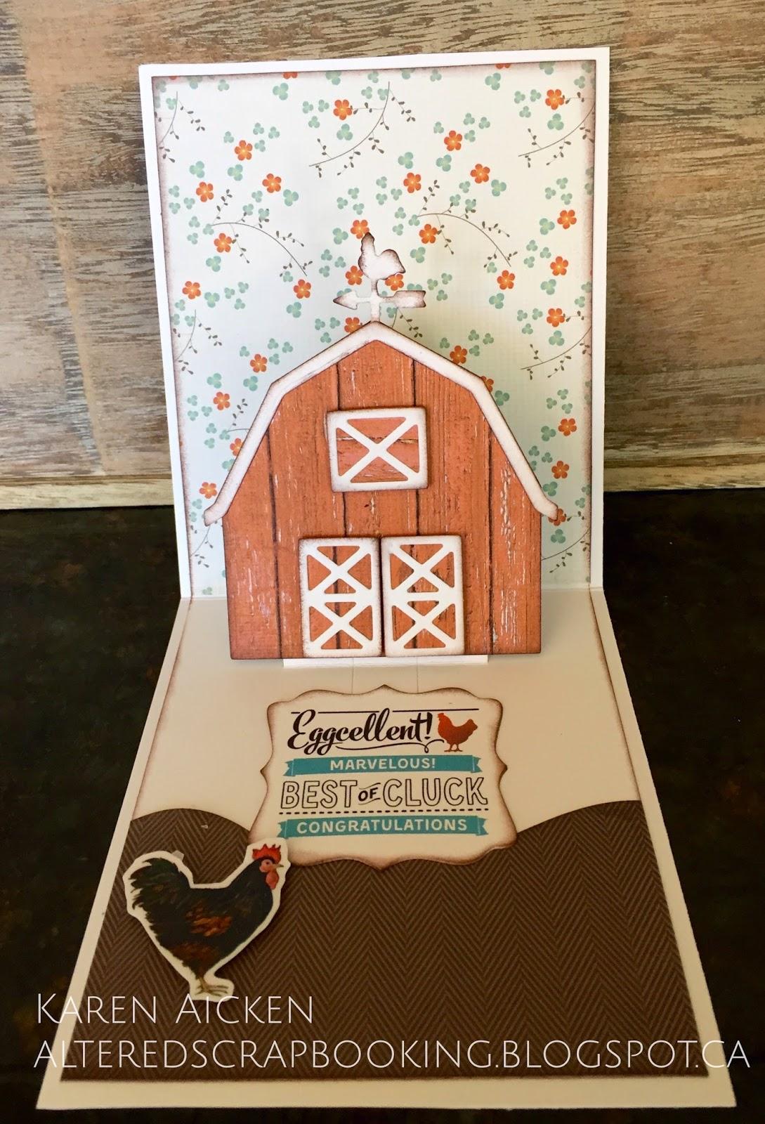 Altered Scrapbooking Eggcelent Barn Birthday Card