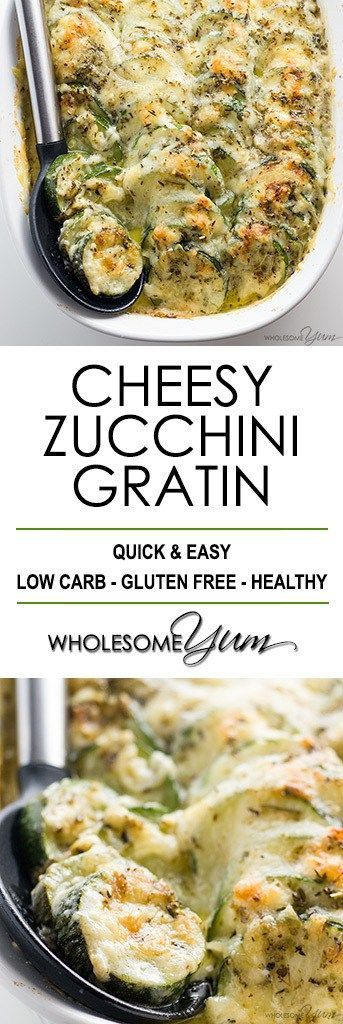 LOW  CARB BAKED EASY CHEESY ZUCCHINI CASSEROLE RECIPE