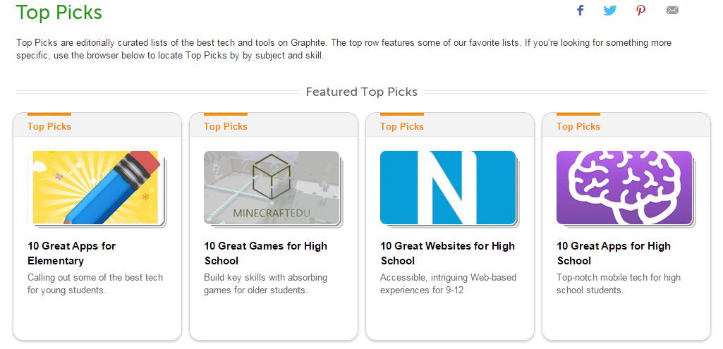 Graphite for Top PIcks for Teachers
